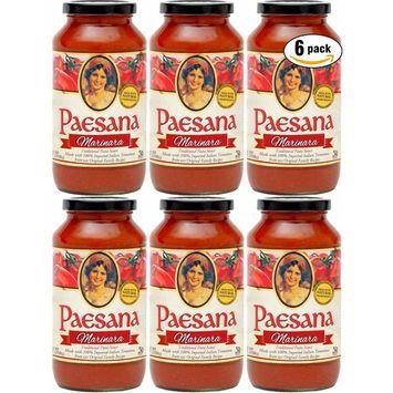 Paesana Marinara Sauce, All Natural Ingredients, 25oz (Pack of 6, Total of 150oz)