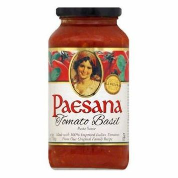 Paesana Tomato Basil Pasta Sauce, 25 OZ (Pack of 6)