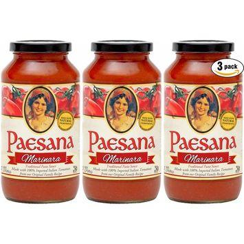 Paesana Marinara Sauce, All Natural Ingredients, 25oz (Pack of 3, Total of 75oz)