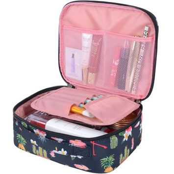 Travel Makeup bags Cosmetic Case Organizer Portable Storage Bag Cosmetics Make up Brushes Toiletry bag accessories Black