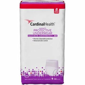 Cardinal Health Maximum Absorbency Women's Protective Underwear, Small/Medium, 32 count