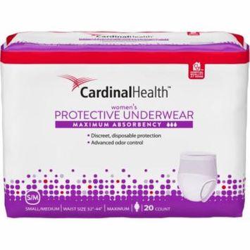 Cardinal Health Maximum Absorbency Women's Protective Underwear, Small/Medium, 20 count