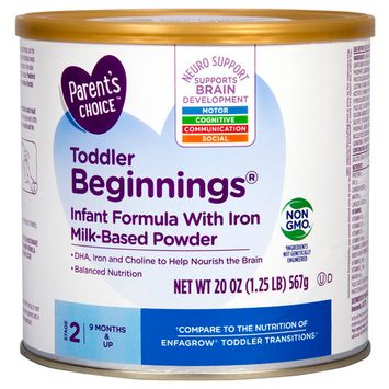 Parent's Choice Toddlers Beginnings Infant Formula with Iron, Powder, 20 oz