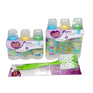Baby Bottles and Bottle Cleaning Brush Bundle