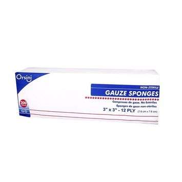 Orsini Non-Sterile Woven Gauze Sponges, 3