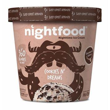 Nightfood, Sleep Expert Approved - Nighttime Ice Cream, Cookies n Dreams, Pint (8 Count)