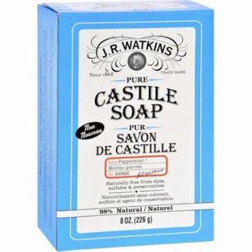J.r. Watkins Bar Soap - Castile - Peppermint - 8 Oz