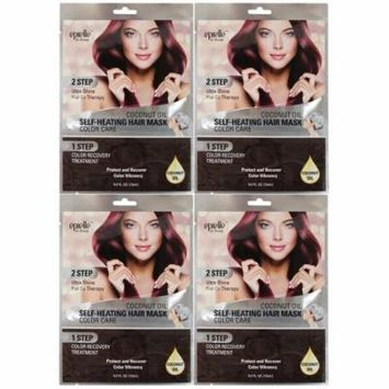 Epielle Coconut Oil Self-Heating Hair Mask-Color Care, (4 pack)
