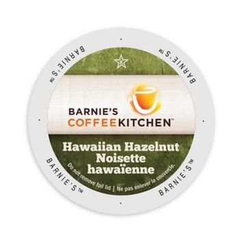 Single Cup Coffee Barnie's Coffee Kitchen Hawaiian Hazelnut, Single Serve Cup Portion Pack for Keurig K-Cup Brewers