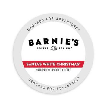 Single Cup Coffee Barnie's Coffee Kitchen Santa's White Christmas Single-serve Cup Portion Pack for Keurig K-Cup Brewers