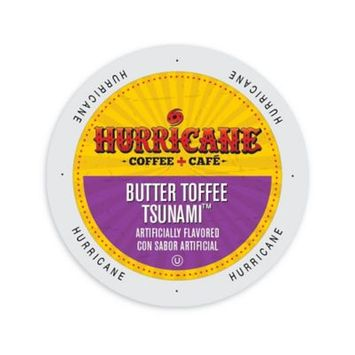 Single Cup Coffee Hurricane Coffee And Tea Butter Toffee Tsunami, Rainforest Alliance, Single Serve Cup Portion Pack for Keurig K-Cup Brewers
