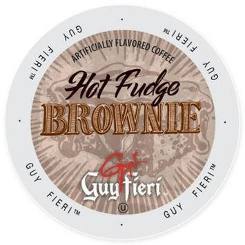 Single Cup Coffee Guy Fieri Coffee Hot Fudge Brownie, Single Serve Cup Portion Pack for Keurig K-Cup Brewers