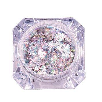 Nail Art Glitters, Alonea Mirror Glitter Aluminum Flakes Magic Mirror Effect Powders Sequins Nail DIY Decoration Tips