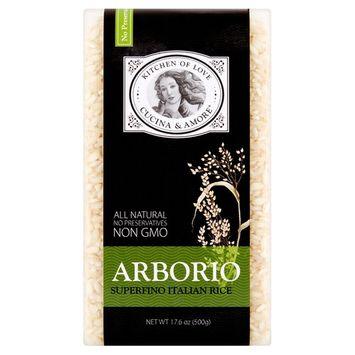 Kitchen of Love Cucina & Amore Arborio Superfino Italian Rice, 17.6 oz, 8 pack