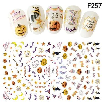 Alonea Nail Art Decals Halloween Manicure Transfer Stickers