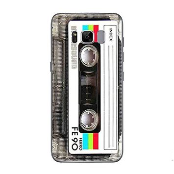 Samsung Galaxy S8 Case ,UCLL Creative Retro 80'S Tape TPU Cover For Galaxy S8 With a screen protector
