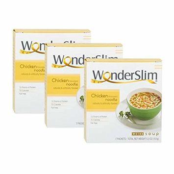 WonderSlim Low-Carb Diet High Protein Soup Mix - Chicken Noodle Soup (3 Boxes Value Pack) - Low Carb, Low Calorie, Fat Free Soup
