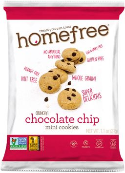 HomeFree Gluten Free Chocolate Chip Mini Cookies (30/1.1 oz bags)