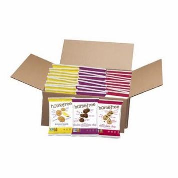 Homefree LGFMMIXED30L Gluten Free Mini Cookies Mixed Case 10 Each Single Serve Choc Chip Lemon Burst And Dbl Choc Chip