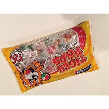 Tiger Pops Original Assorted Fruit Flavor - 120 Pops Bag (42.3 oz)
