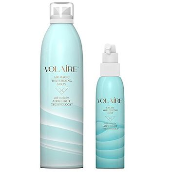 Volaire Uplift Volumizing Mist (6 Oz) & Air Magic Texturizing Spray (10.1 Oz) - Sulfate Free   Paraben Free   Safe for Color Treated Hair