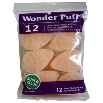 Wonder Wedges Wonder Cleansing Puff, 12 Count by Wonder