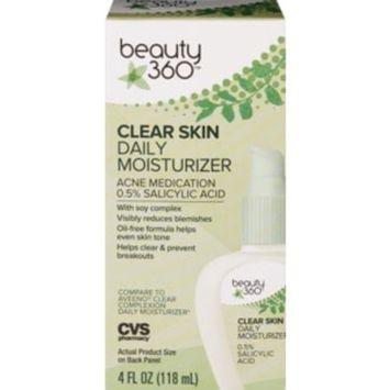 Beauty 360 Clear Skin Daily Moisturizer, 4 OZ