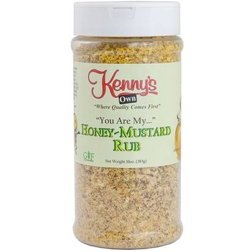 Honey Mustard Rub & Seasoning Ground Powder | Gluten Free | 8 Oz. (Honey-Mustard Rub).