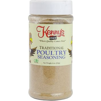 Traditional Poultry Seasoning Ground | Chicken & Turkey Spices | Gluten Free, NO MSG & NO Sugar Added | 4 Oz. (Poultry)