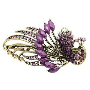 niceeshop(TM) Lovely Retro Vintage Crystal Butterfly Hair Clips Hair Pins,Purple