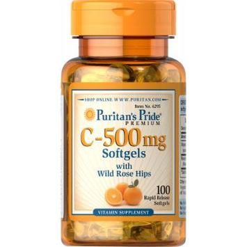 Puritan's Pride Vitamin C-500 mg with Rosehips-100 Softgels