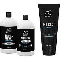 AG Hair Bad Boy 4-piece Cleansing and Grooming Kit