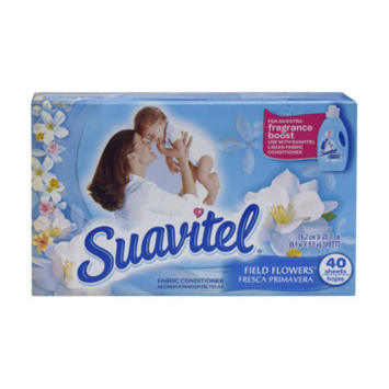 Suavitel Field Flowers Fabric Conditioner Dryer Sheets - 40 CT