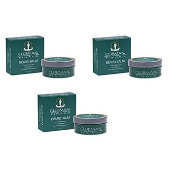 (VALUE PACK OF 3) CLUBMAN PINAUD BEARD BALM 2oz : Beauty