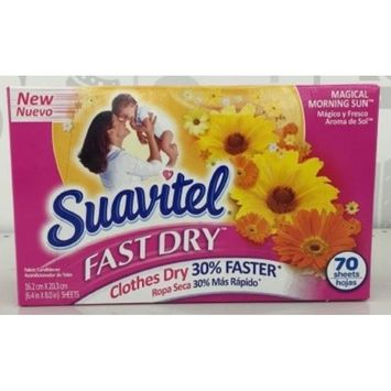 Suavitel Fast Dry Dryer Sheets, Magical Morning Sun - 70 Count