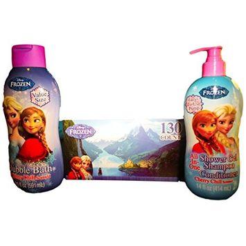 Frozen All-in-one Shower Gel/shampoo/conditioner, Bubble Bath, Frozen Tissue Gift Pack