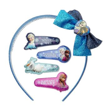 Disney Frozen Girl's 5-Piece Hair Accessory Set & Case