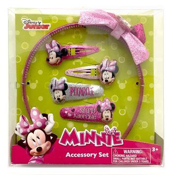 Disney Minnie Mouse Girl's 5-Piece Hair Accessory Set