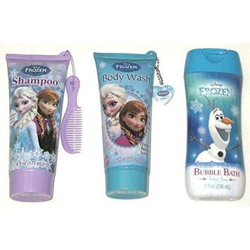 Disney Frozen 3 Piece Set: Shampoo, Body Wash, Bubble Bath Berry Scent