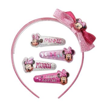 Disney Minnie Mouse Girl's 5-Piece Hair Accessory Set & Case