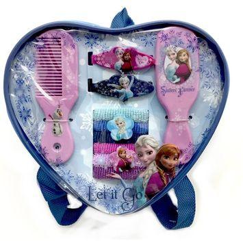 Disney Frozen Girl's 10-Piece Hair Accessory Kit & Carrying Case
