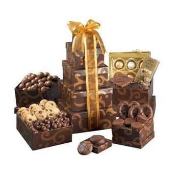 Broadway Basketeers Chocolate & Nut Gift Tower