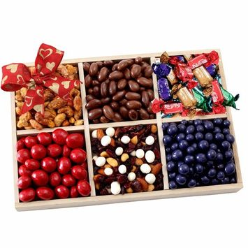 Gourmet Chocolate Fruit & Nuts Gift Tray Mothers Day Gift Basket