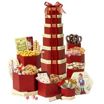 Broadway Basketeers Deluxe Christmas Holiday Gift Tower Gift Set