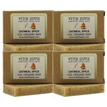 Witch Hippie Oatmeal Spice 1oz Organic Soap Bar -4 Pack