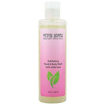 8oz Exfoliating Hand & Body Wash with White Lava by Witch Hippie