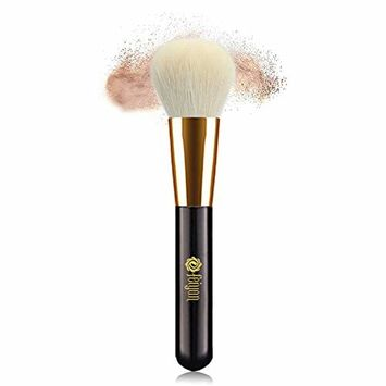 Professional Powder Makeup Brush Made With Natural Pure Wool Large Soft Premium Makeup Brush For Loose Powder Blush Face Mineral Powder Cosmetic Tool 1 Piece