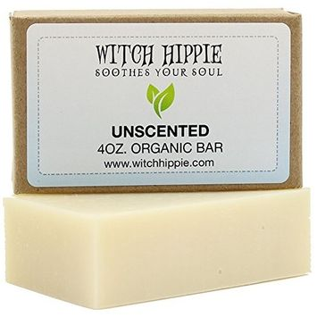 Unscented Sensitive Skin 4oz Certified Organic Soap Bar by Witch Hippie