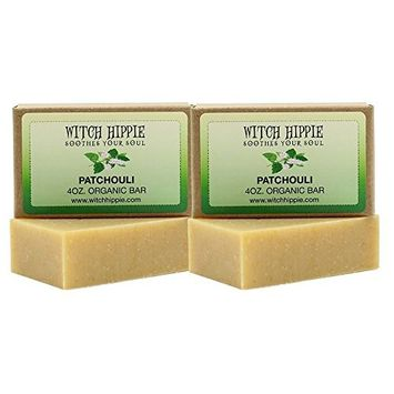 Patchouli 4oz Certified Organic Soap Bar 2 Pack by Witch Hippie