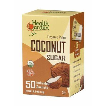 Health Garden Organic Coconut Sugar - All Natural Kosher Non GMO Sugar Substitute 50 Packets